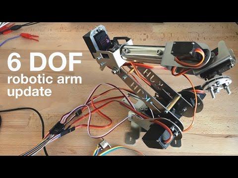 Arduino / Teensy 6 DOF / Axis Robotic Arm Inverse Kinematics - Update