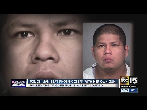 A Circle K employee assaulted with her own gun in Phoenix