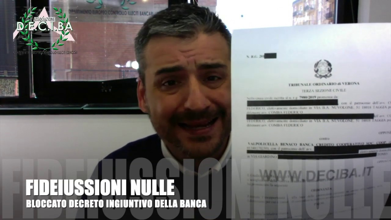 BLOCCATO PIGNORAMENTO PER FIDEIUSSIONE NULLA