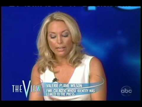 Valerie Plame sits in with The View pt 1
