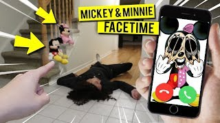 CALLING MICKEY & MINNIE MOUSE ON FACETIME AT 3 AM!! *THEY GOT HIM*