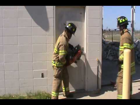 Forcible Entry Inward Swinging Metal Door Rotary Saw Youtube