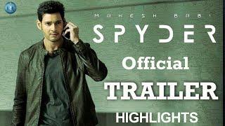 Spyder trailer highlights | #spydertrailer | mahesh babu | a.r. murugadoss