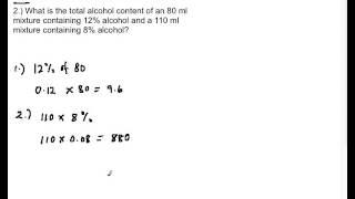 Mixture Problem Part 1