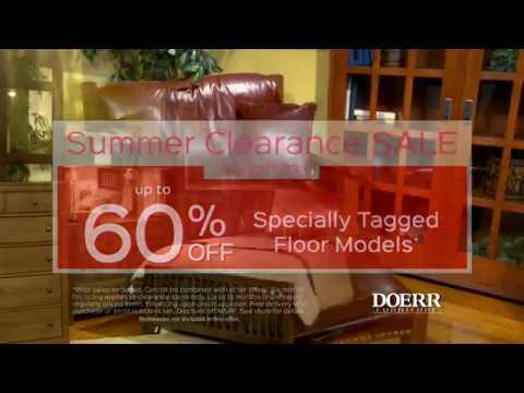 Good Doerr Furniture Summer Clearance Sale 2017
