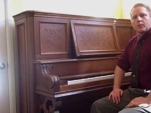 1892 Emerson Upright Grand Piano - YouTube