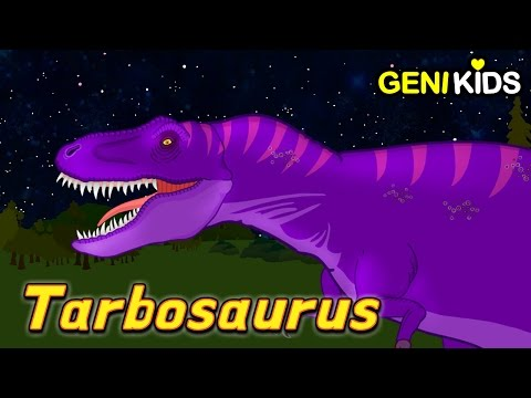 TARBOSAURUS | Watch Me! The Giant Relative of T-Rex | Dinosaur World ★Genikids