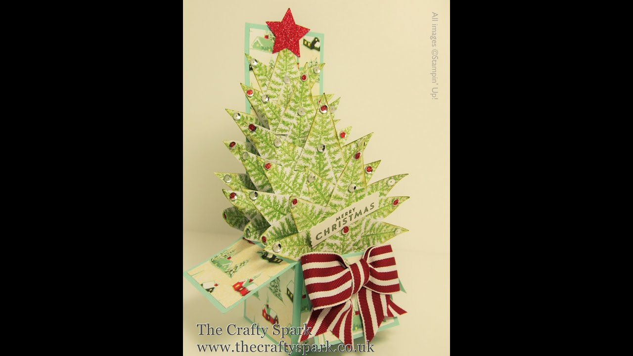 christmas tree card in a box stampin up uk part 1 - Christmas Tree Card
