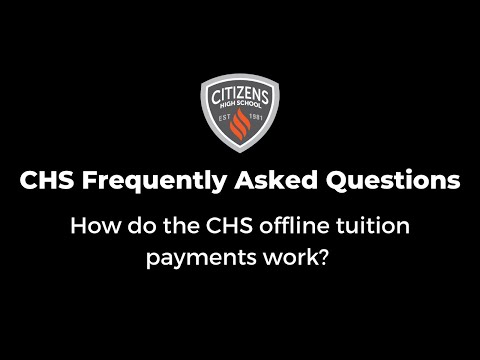How do the offline tuition payments work?