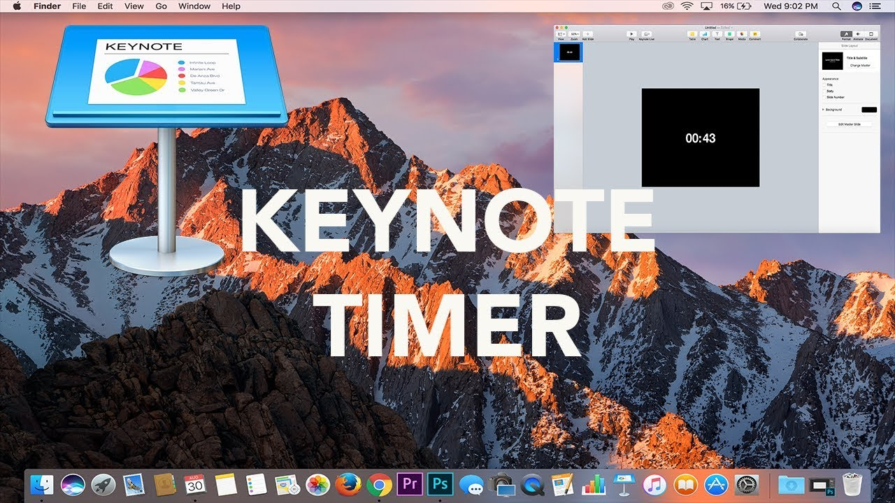 apple keynote tutorial how to make an animated timer youtube