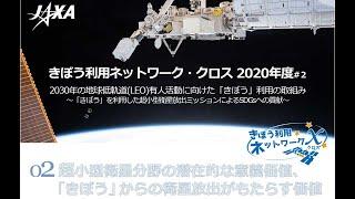 きぼう利用ネットワーク・クロス(2020年度#2「きぼう」利用超小型衛星放出ミッション対談)2.「きぼう」からの衛星放出がもたらす価値
