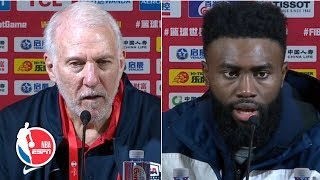 Gregg Popovich, Jaylen Brown look ahead to Team USA vs. Giannis and Greece | 2019 FIBA World Cup