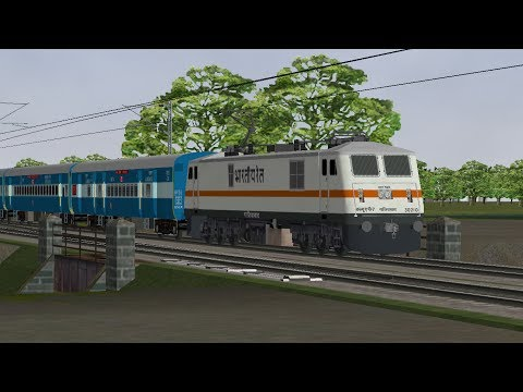 Msts Poorva Express Departing from Mughalsarai Jn