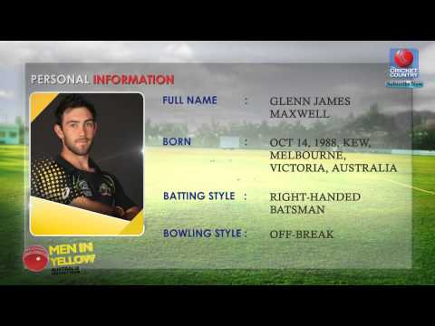 Glenn Maxwell | Personal Information & Career Record | WC 2015