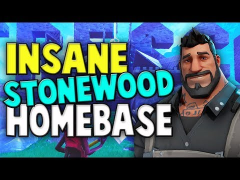 INSANE Stonewood Homebase Build // Fortnite Save The World