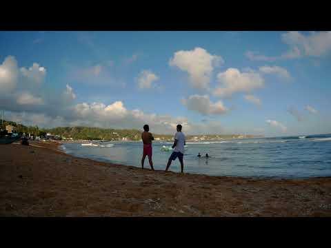 Unawatuna Beach. Sri Lanka. Time lapse. 15 September 2017