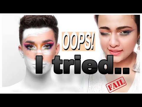 I followed James Charles makeup tutorial | james charles x morphe unleash your inner artist