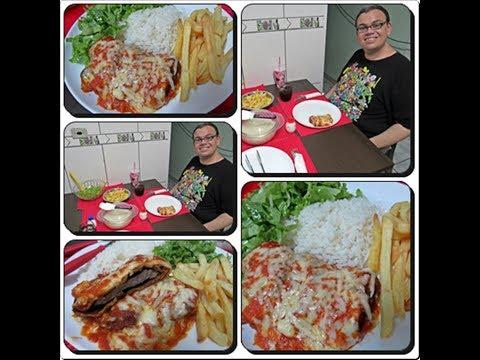 🍖🍅Bife a Parmegiana de Restaurante e Molho de Restaurante🍅com Déby & Ian🍖🍅