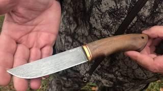 обзор ножа Охотник на охоте.Универсальный нож.Ножевая мастерская
