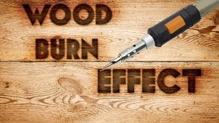 Photoshop Wood Burn Text Effect