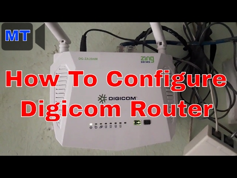 How To Configuration Digicom Wireless Router In Nepal 2017
