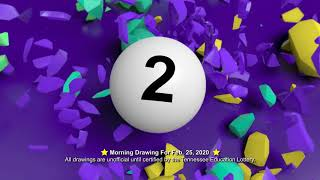 Tennessee Lottery Morning_C3_C4_LS 02/25/2020