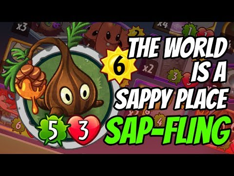 Sap-Fling - The Event Card of the Week | Plants vs Zombies Heroes Gameplay