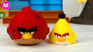 Играем в Игрушки Энгри Бердс - Angry Birds. Видео для детей
