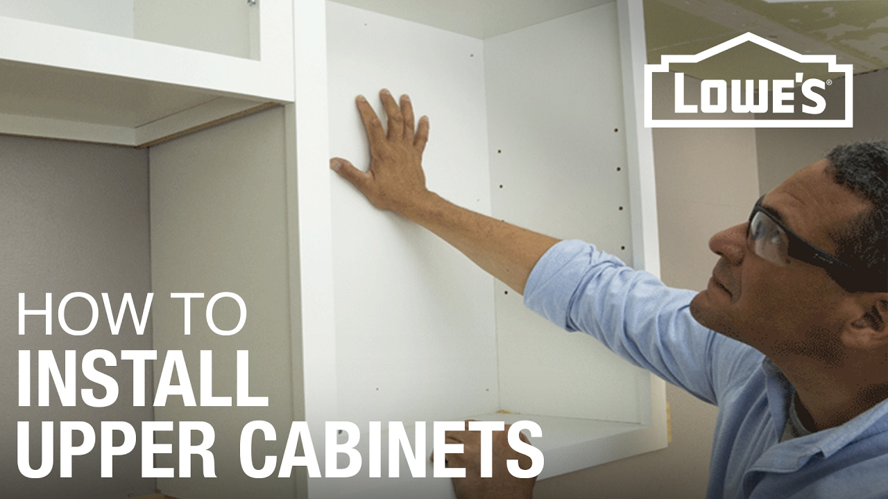 How To Hang Cabinets Youtube