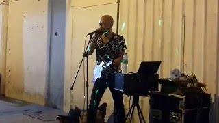 Ghani heavy machine cover metaliica mantap dan lucu,pakai gitar kertas-enter sandman