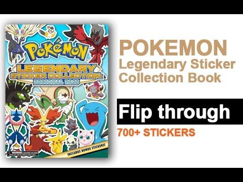 pokemon legendary sticker collection book flip through 700 stickers youtube. Black Bedroom Furniture Sets. Home Design Ideas