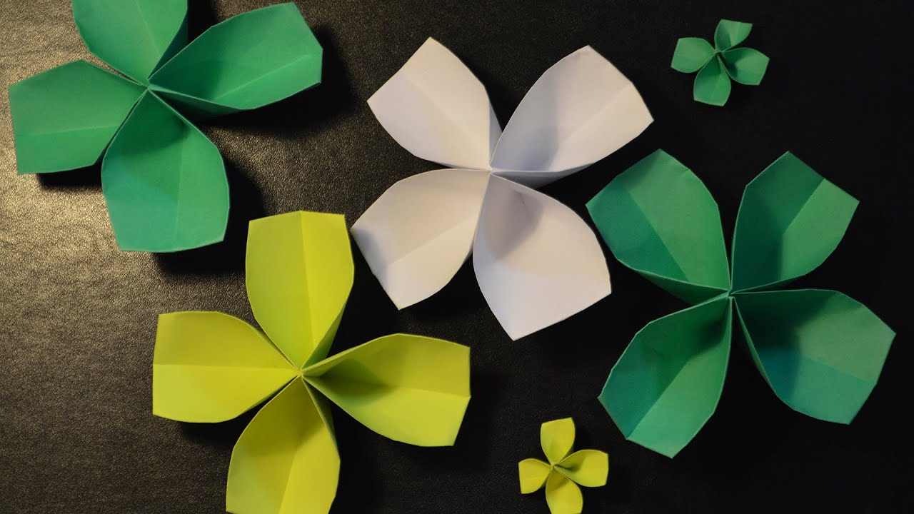 how to make a paper four leaf clover youtube