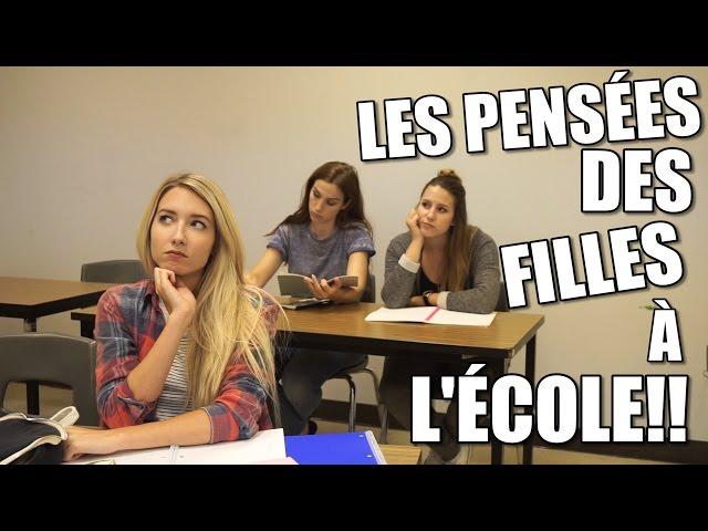 LES PENSÉES DES FILLES EN CLASSE   BACK TO SCHOOL 2016