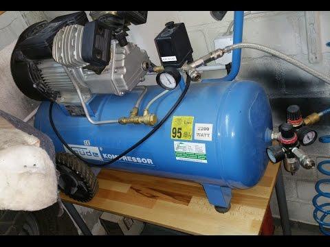 Güde Luftkompressor / Kompressor für die Garage (Vorführung und Ölwechsel) Garagen - Gadget