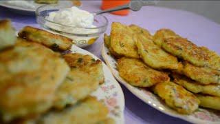 Ладушки-оладушки из кабачка,картофеля и...?