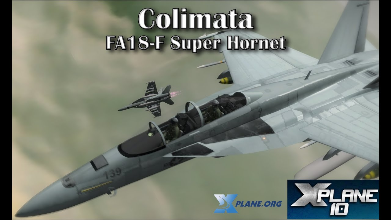FA18-F Super Hornet for X-plane 10 (Colimata)