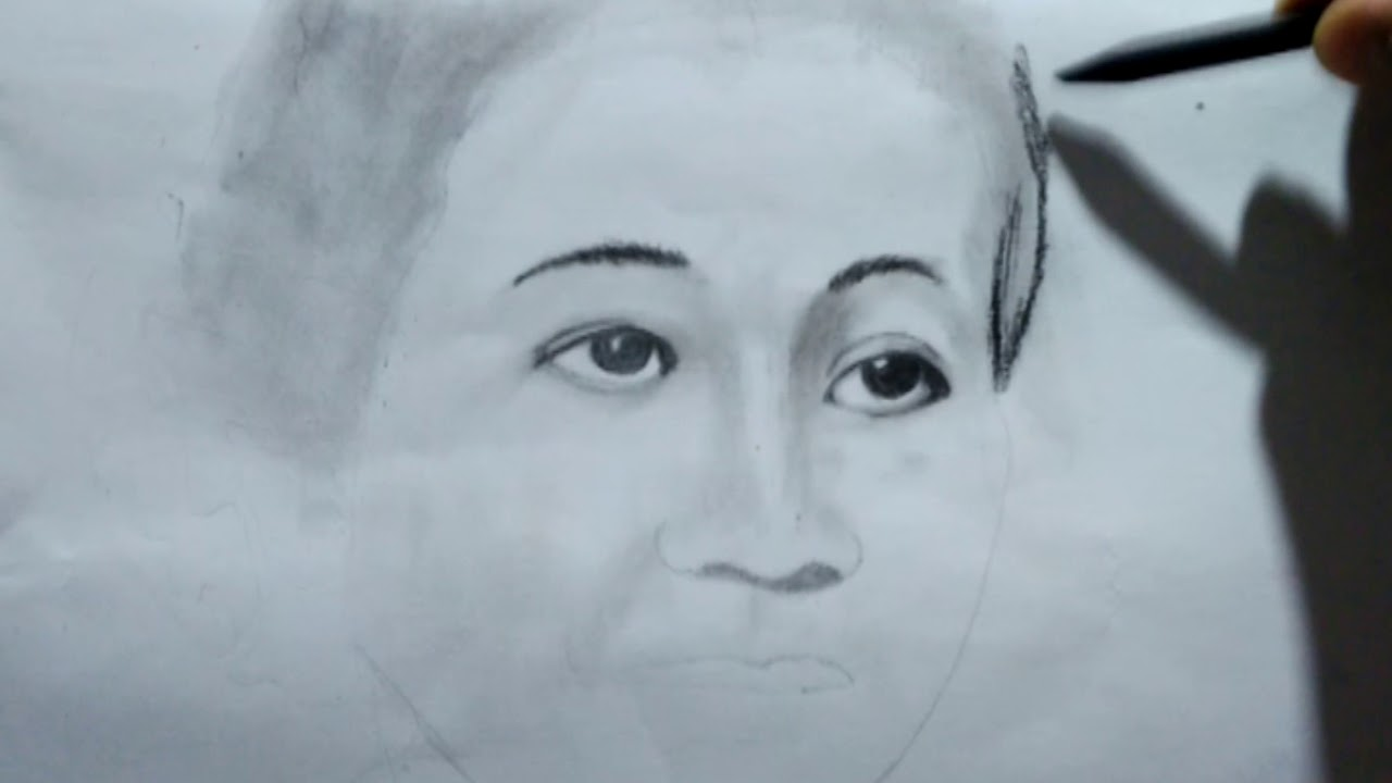 Lukisan Sketsa Ra Kartini Youtube