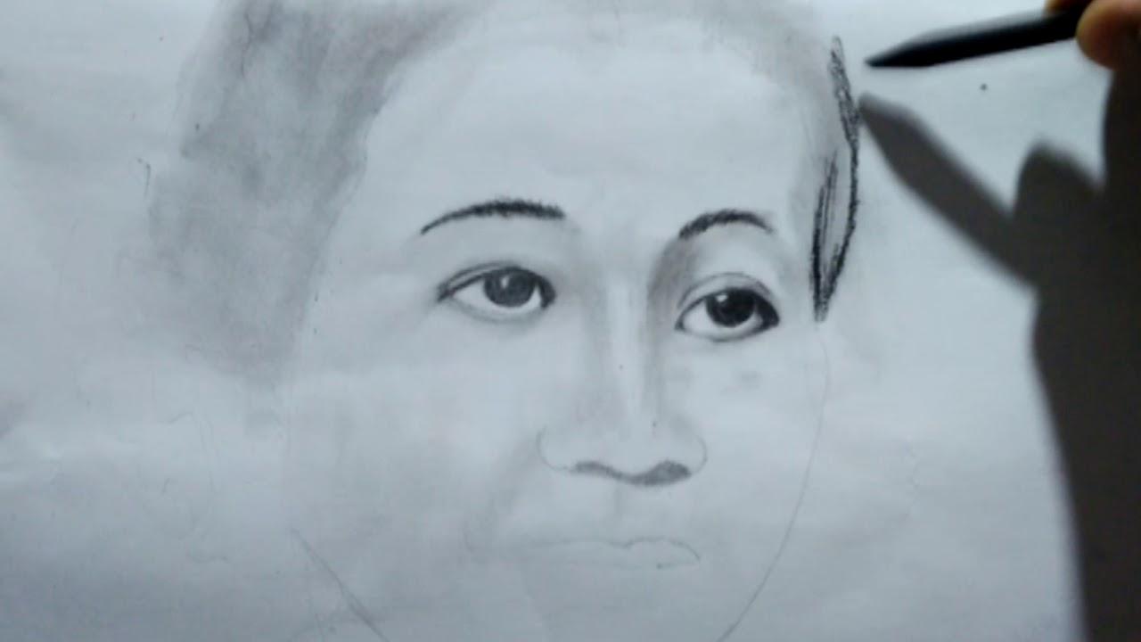 44 Sketsa Gambar Kartini   Gudangsket