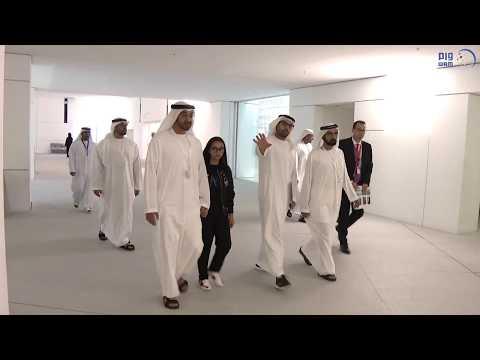 محمد بن راشد ومحمد بن زايد يزوران متحف اللوفر