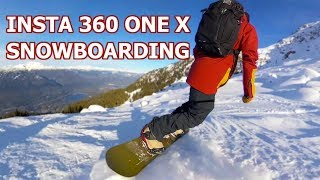 Insta360 One X Mountaintop Snowboarding Test