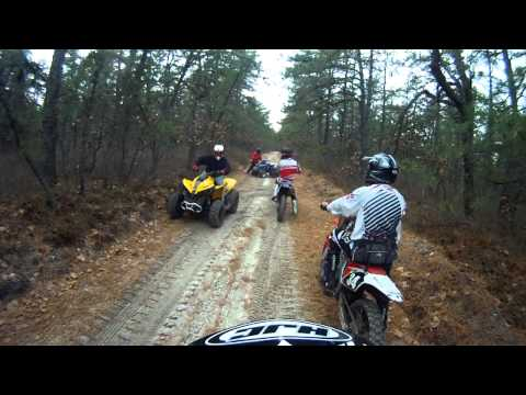 CRF250r New Jersey trails and Sand.