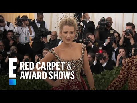 Blake Lively Models on the Met Gala Red Carpet