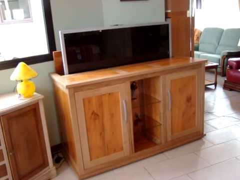 meuble tv escamotable ranger votre ecran. Black Bedroom Furniture Sets. Home Design Ideas