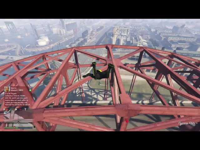 Grand Theft Auto V wingsuit flying proximity gaps