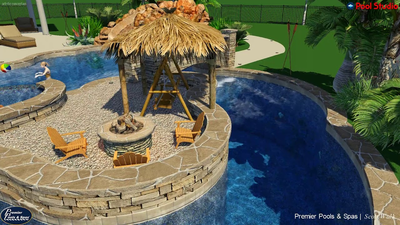 Lazy River Pool Project Premier Pools Spas Scott Walk Design