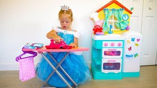 Princess Cinderella Cleaning Up from baby dolls