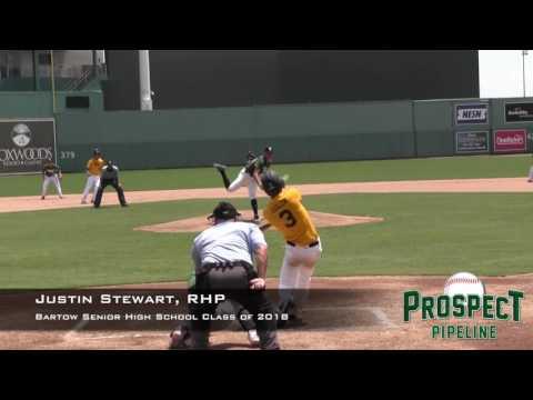 Justin Stewart prospect video, RHP, Bartow Senior High School Class of 2018