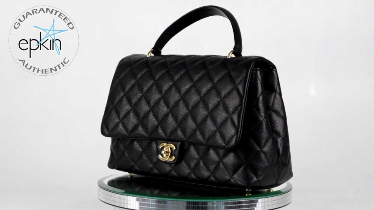 Chanel Kelly Jumbo Tote Quilted Caviar Leather Handbag Bag Authentic Black Ghw You