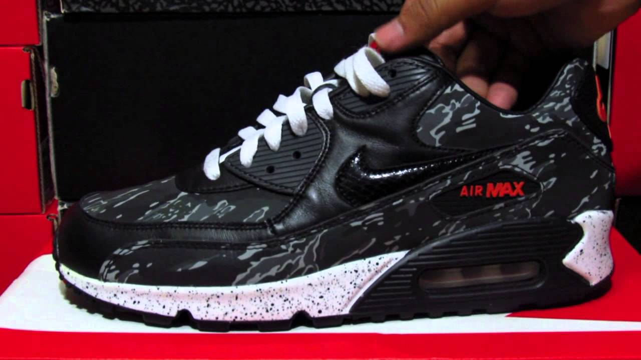 buy popular 365d5 dea9c Nike Air Max 90 Tiger Camo Sneaker Review - YouTube