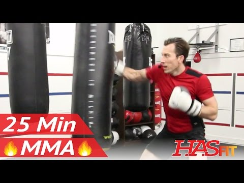 25 Min MMA Heavy Bag Workout - MMA Training Exercises at Home MMA Workout Routine - UFC Workout BJJ